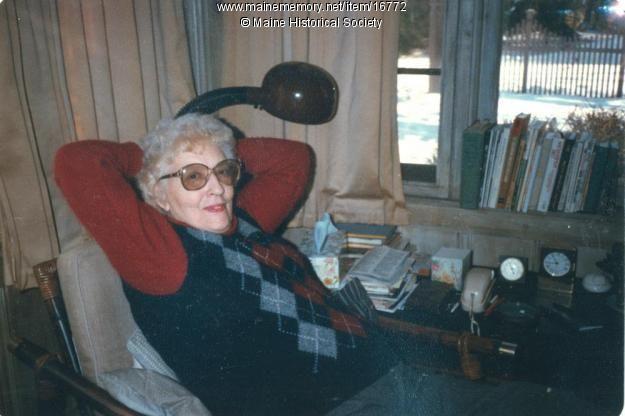 Author May Sarton At Her Home Wild Knoll In York May 1985 Sarton