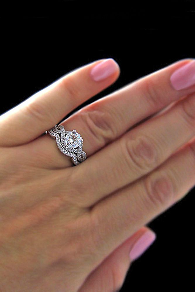 42 Wedding Ring Sets That Make The Perfect Pair Wedding Forward Infinity Wedding Ring Set Wedding Ring Sets Infinity Ring Wedding