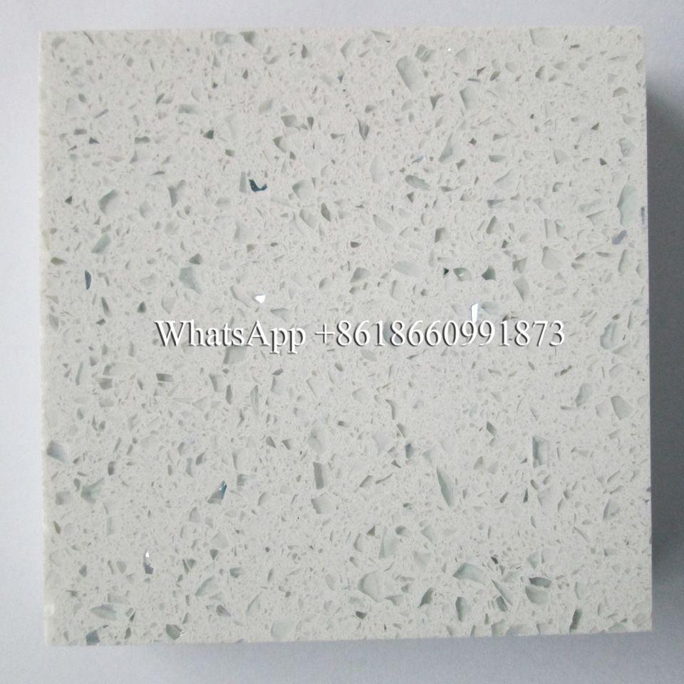 Multifunctional White Sparkle Quartz Stone Countertop Quartz Slab