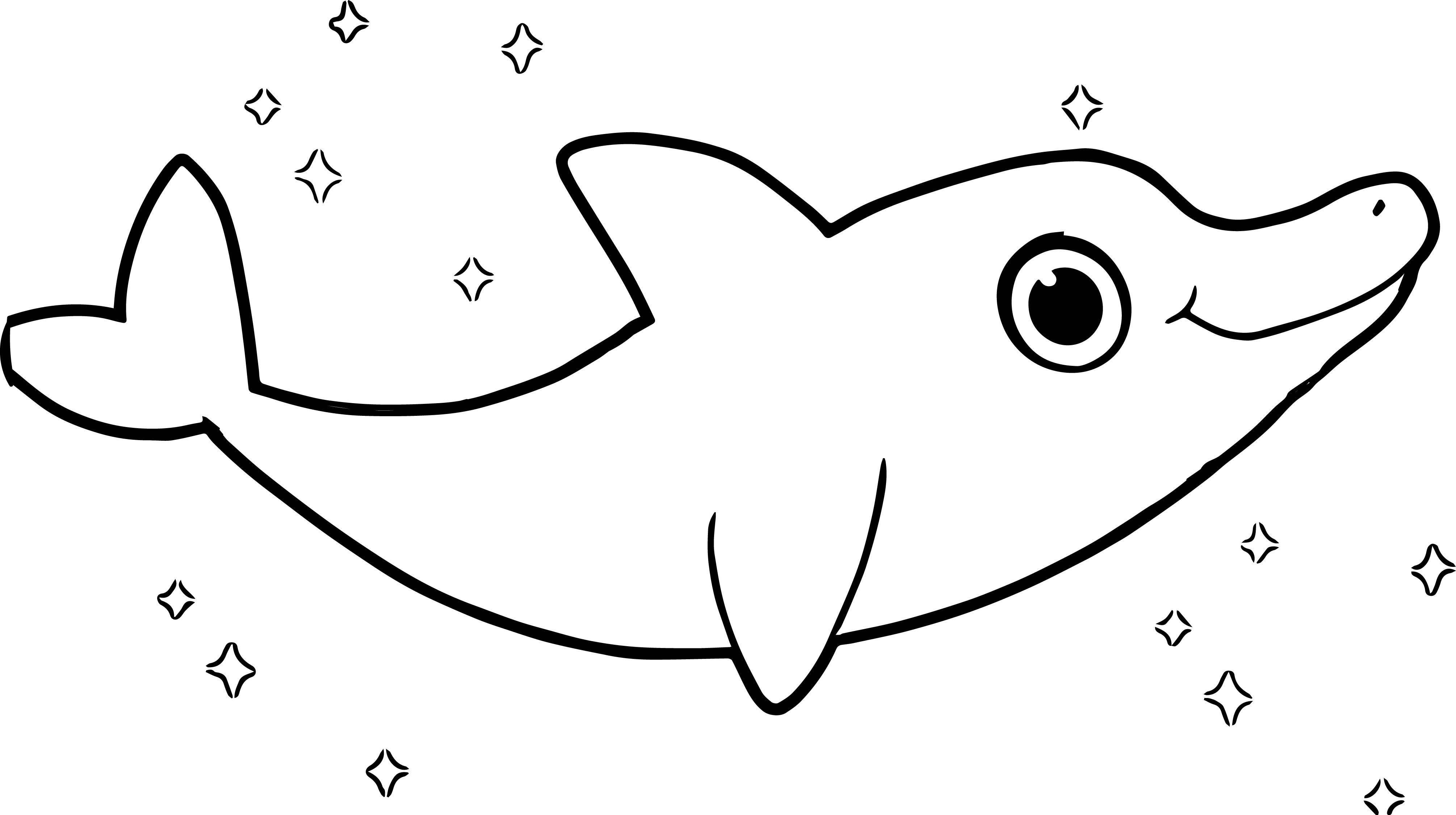 Cute Dolphin Coloring Pages | Adult Coloring Pages | Pinterest