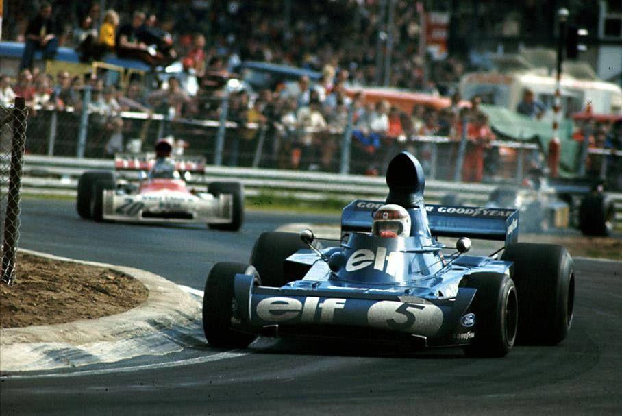 Jackie Stewart Gbr Tyrrell 006 Zolder 1973 Classic Racing Cars Race Cars Classic Racing