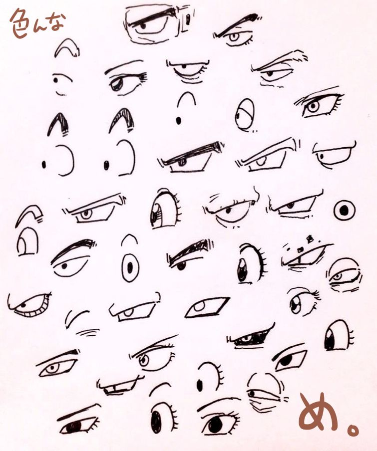 It is an image of Decisive Dbz Eyes Drawing