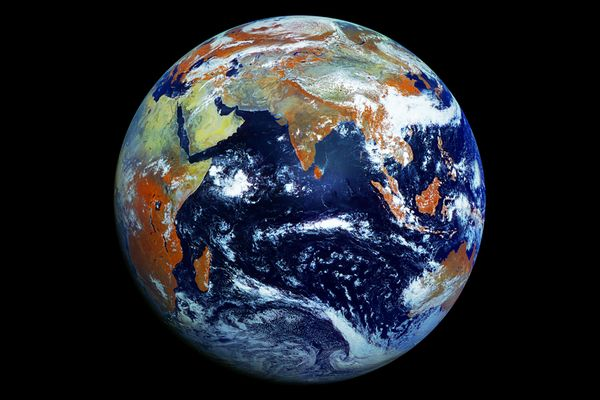 Our More Than Blue Marble Breathtaking View Of Earth Taken By Russian Satellite Earth From Space Earth Photos Planets