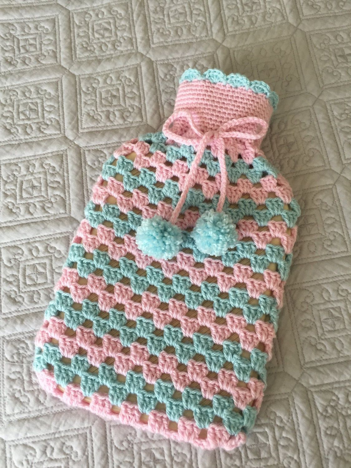 Crochet hot water bottle cover by HookAbility on Etsy | Other ...
