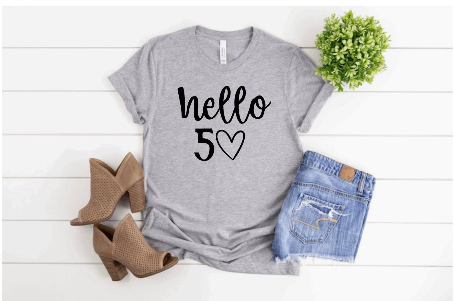 50th Birthday Shirt Hello 50 shirt Fiftieth Birthday Tee