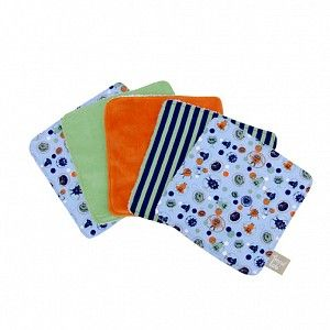 Snuggle Monster Baby Wash Cloth Set