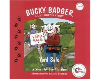 Bucky Badger a Children's Story – The Yard Sale, from Badgerland Books