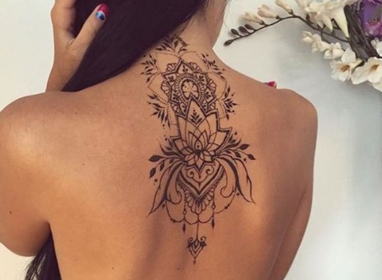 Mehndi Tattoo On Back : Pin by leah wolk on tattoos pinterest tattoo tatting and tatoo