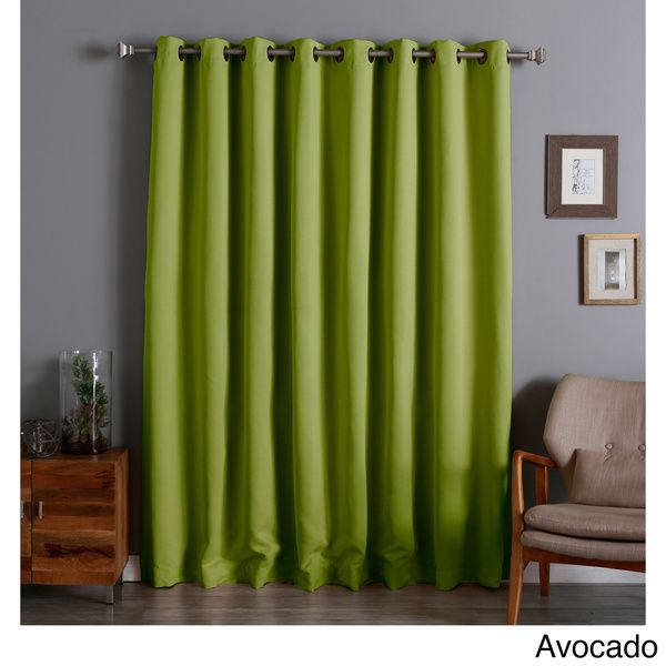 aurora home extra wide thermal 100 x 84 inch blackout curtain panel 2218 pinterest. Black Bedroom Furniture Sets. Home Design Ideas