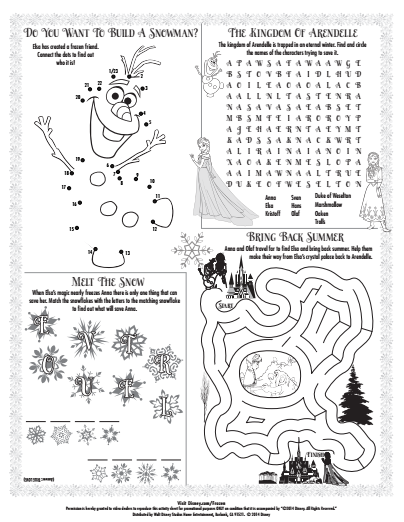 Disney Activity Pages - Bing Images | Craft disney | Pinterest ...
