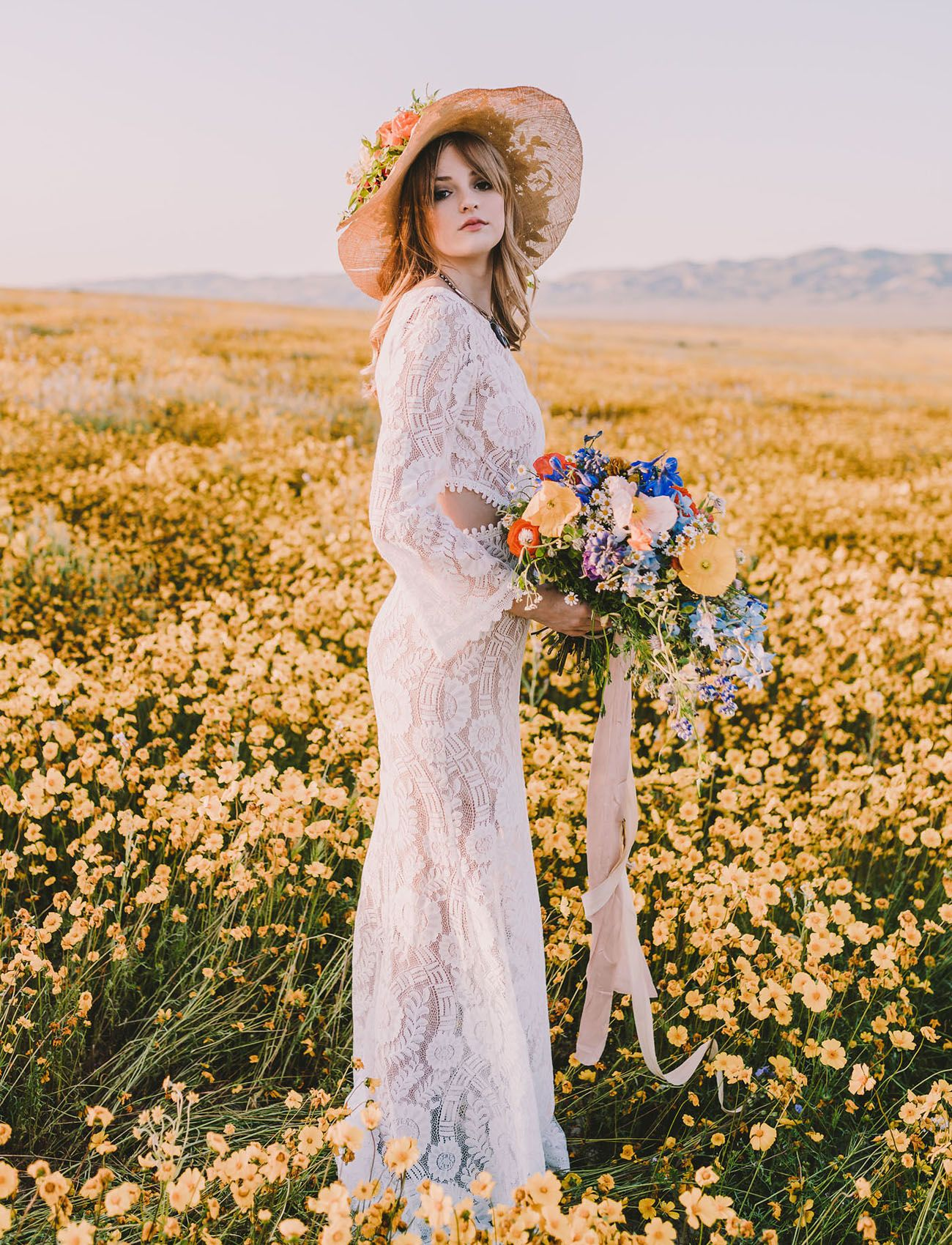 Sweet s wildflower bridal inspiration s wedding s