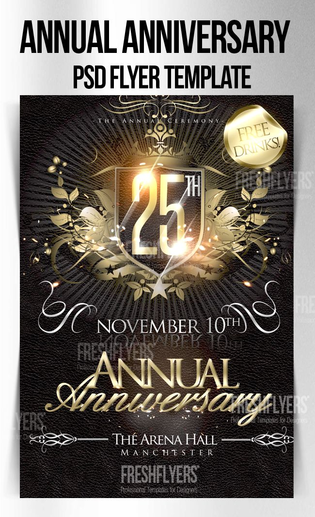 Church Flyer Templates Free Download | Anniversary PSD Flyer ...