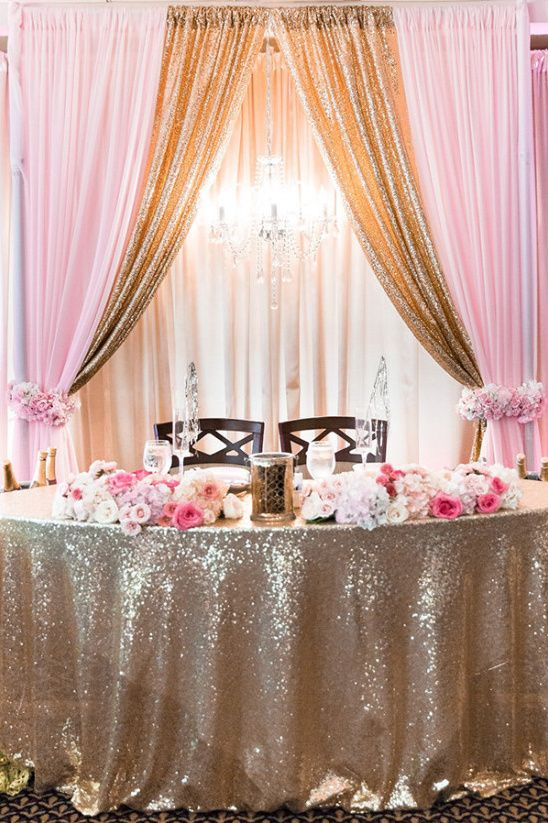 Fairytale Pink And Gold Wedding Pink Gold Wedding Gold
