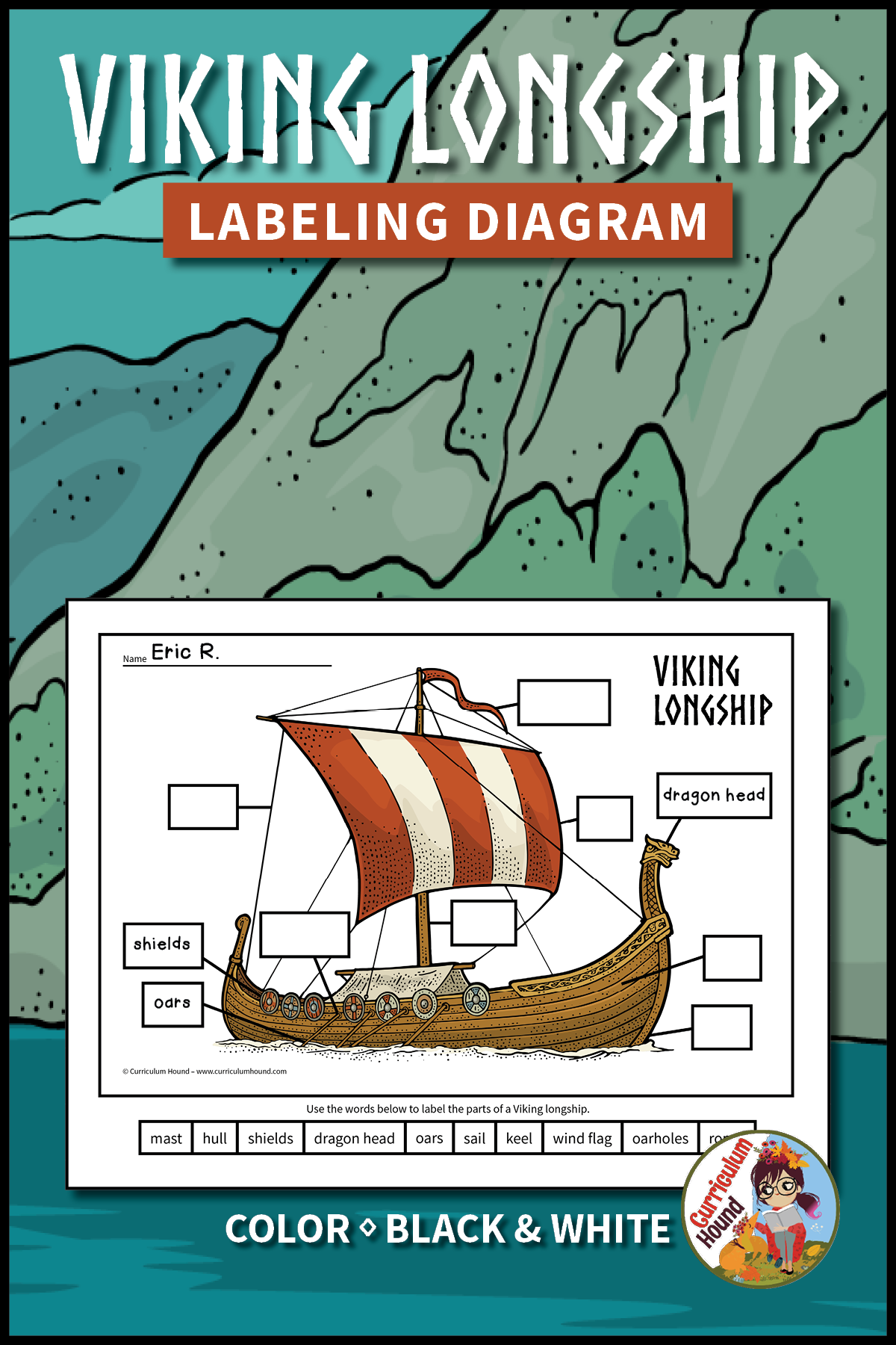 largely because their longships were lighter faster and stronger than other ships of the time students cut and paste or write words in boxes to label  [ 1200 x 1800 Pixel ]