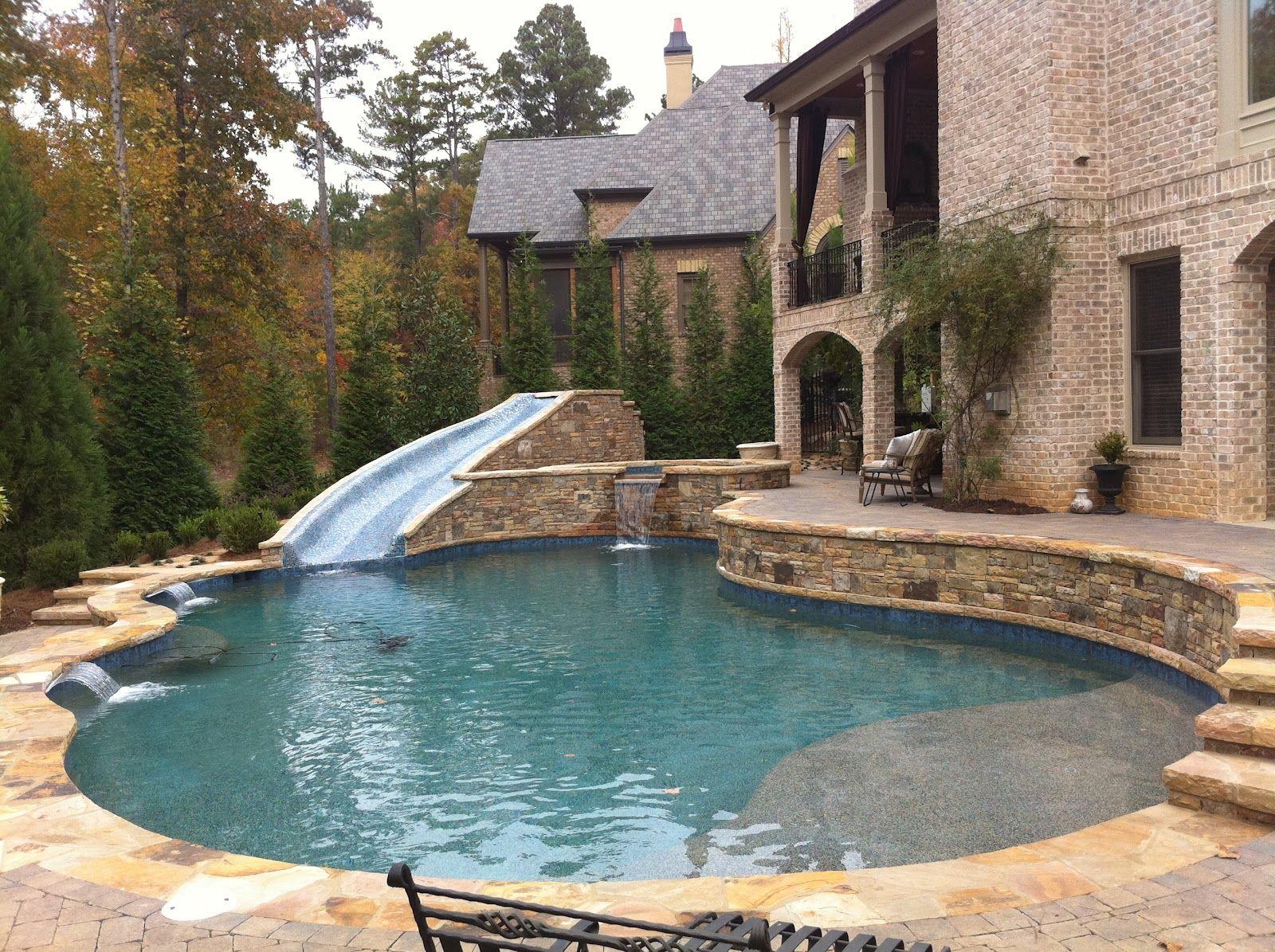 Backyard Oasis Pools Free Form Pool St Marlo Backyard Pool Swimming Pools Backyard Swimming Pool Designs