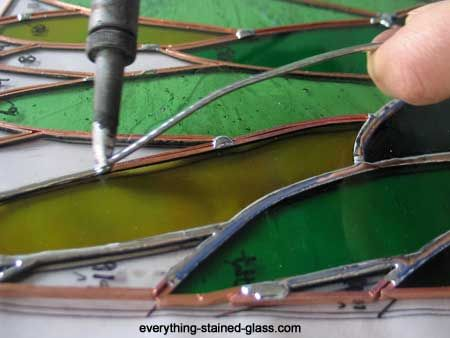 How To Solder Stained Glass.Stained Glass Soldering How To Solder Copper Foil Stained