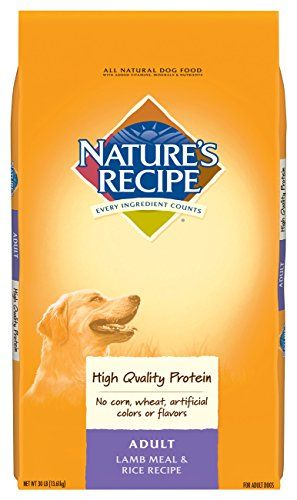 Nature S Recipe Adult Dog Food Dry Lamb Meal Rice Recipe 30