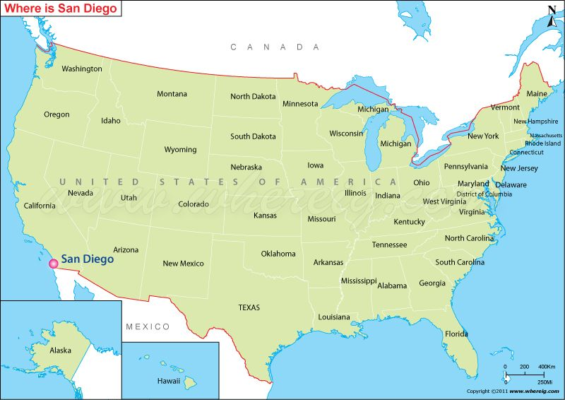Us Map Or Map Of United States Of America Shows 50 Usa Staes States Bounday Along With Surrounding Countries And Water Body Description From Wher