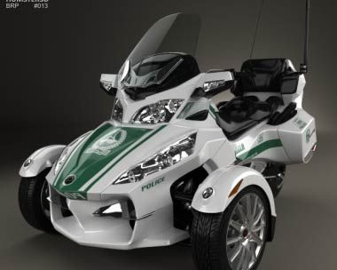 3d Model Of Brp Can Am Spyder Police Dubai 2014 Cars And