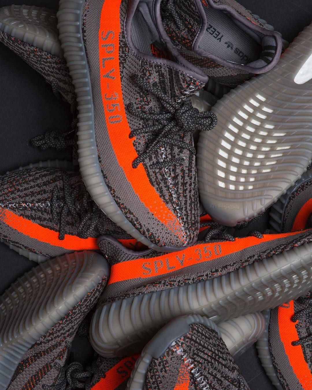 """f801a1f8c adidas Officially Introduces YEEZY Boost 350 V2 With Animated Video  Anticipating the release of """"SOLAR RED STEEPLE GRAY BELUGA."""" Photo  Stripe  Center"""