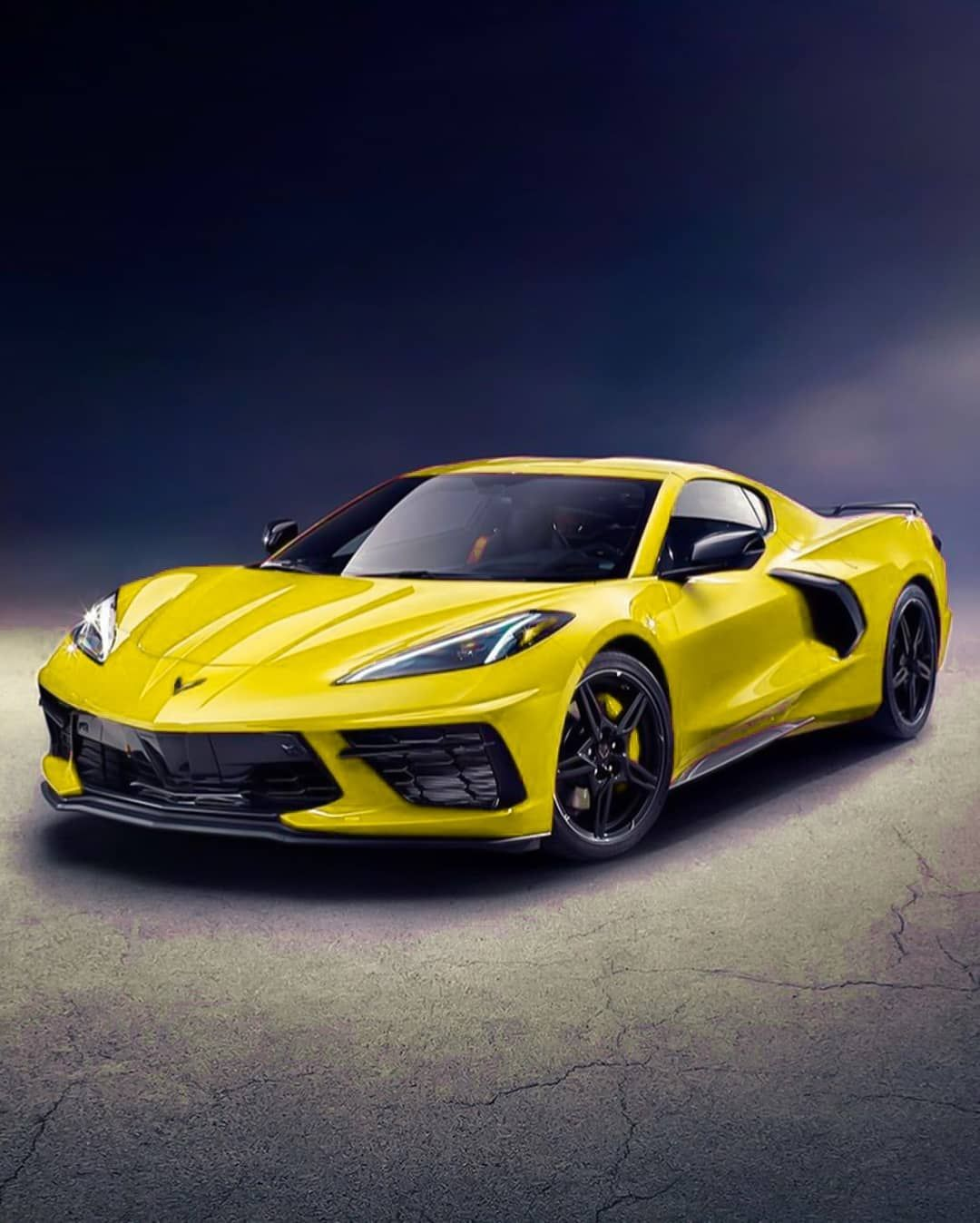 3 Yellow Corvette C8 Carspot Carspotting Automotive Best Automobile Race Photography Like Su Corvette Yellow Corvette Super Cars