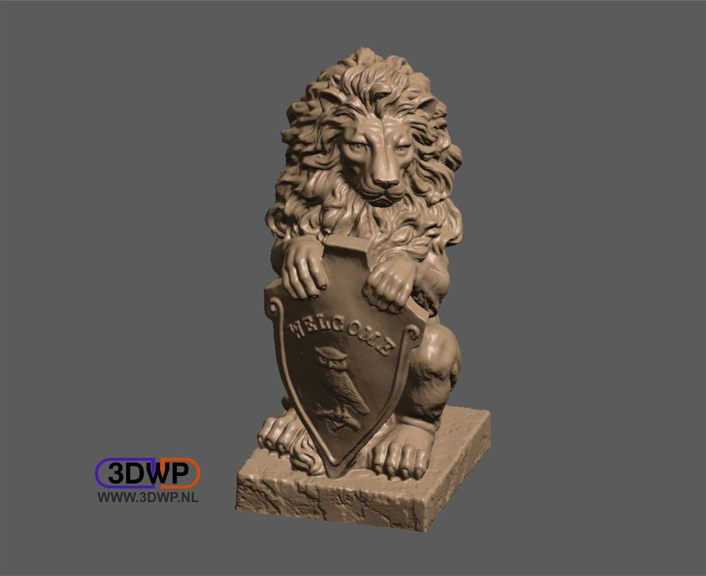 Lion+Statue+''Welcome''+by+3DWP.