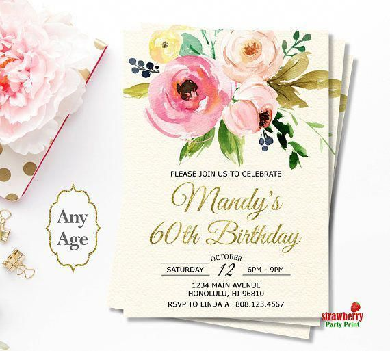 Women Birthday Invitations For Any Age Surprise UnderstandingHandwritingAnalysis