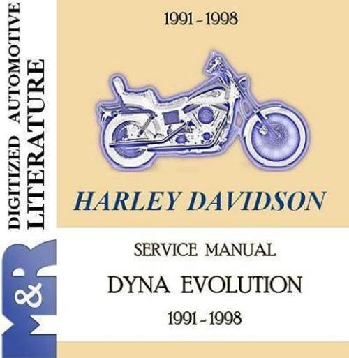 1991 1998 Harley Davidson Fxd Dyna Evolution Service Manual Service Manual Chapters 1 General Information 2 Trou Harley Davidson Motorcycle Mechanic Harley