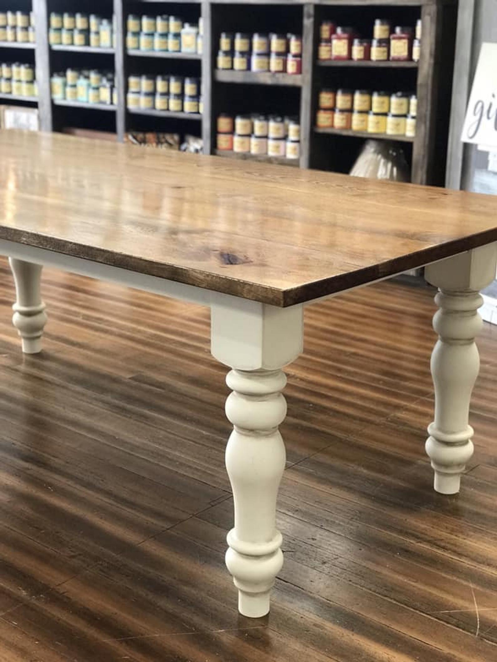 Farmhouse Table Farm Table Wooden Dining Room Table Rustic