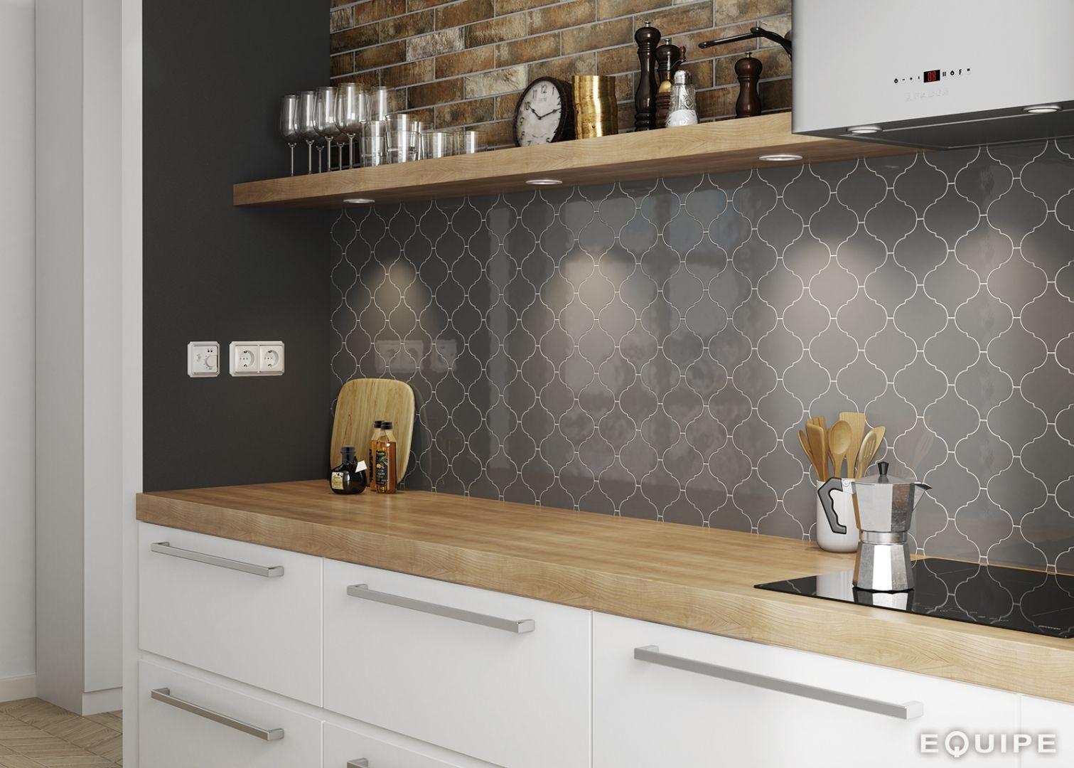 Encaustic Wall Tile Ireland Morrocan Dark Grey (With
