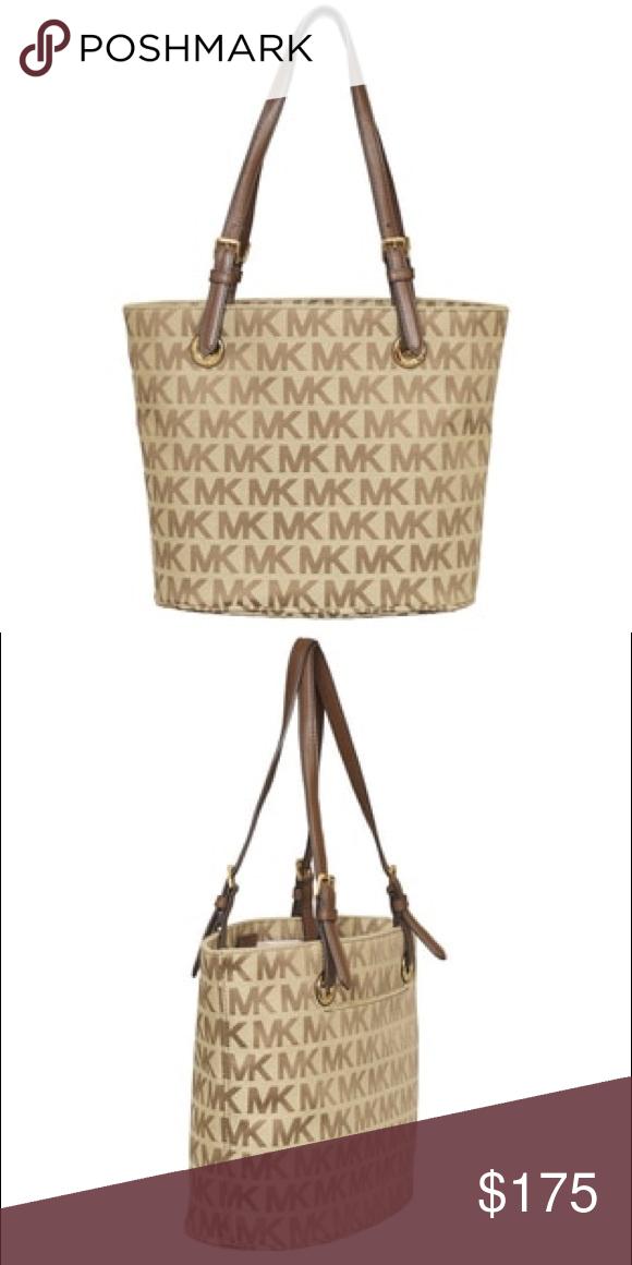 8efbd462a96c5e Spotted while shopping on Poshmark: Michael Kors - MK Signature Jet Set  Tote! #poshmark #fashion #shopping #style #MICHAEL Michael Kors #Handbags