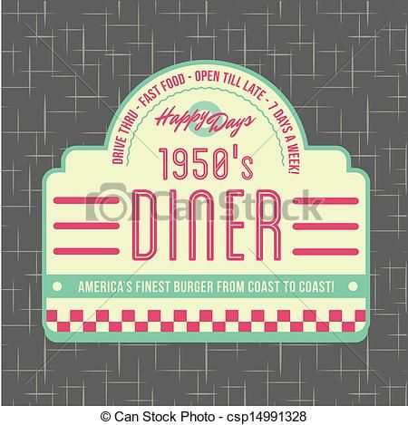 1950s Diner Style Logo Design - csp14991328 | Rings ...