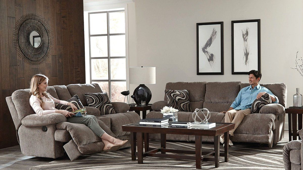Catnapper Jules Dual Reclining Sofa Living Reclinable