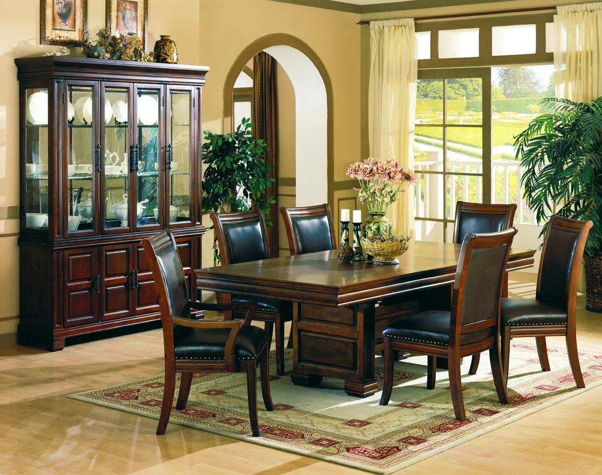 Westminister Traditional Cherry China Chinan Cabinets Dining