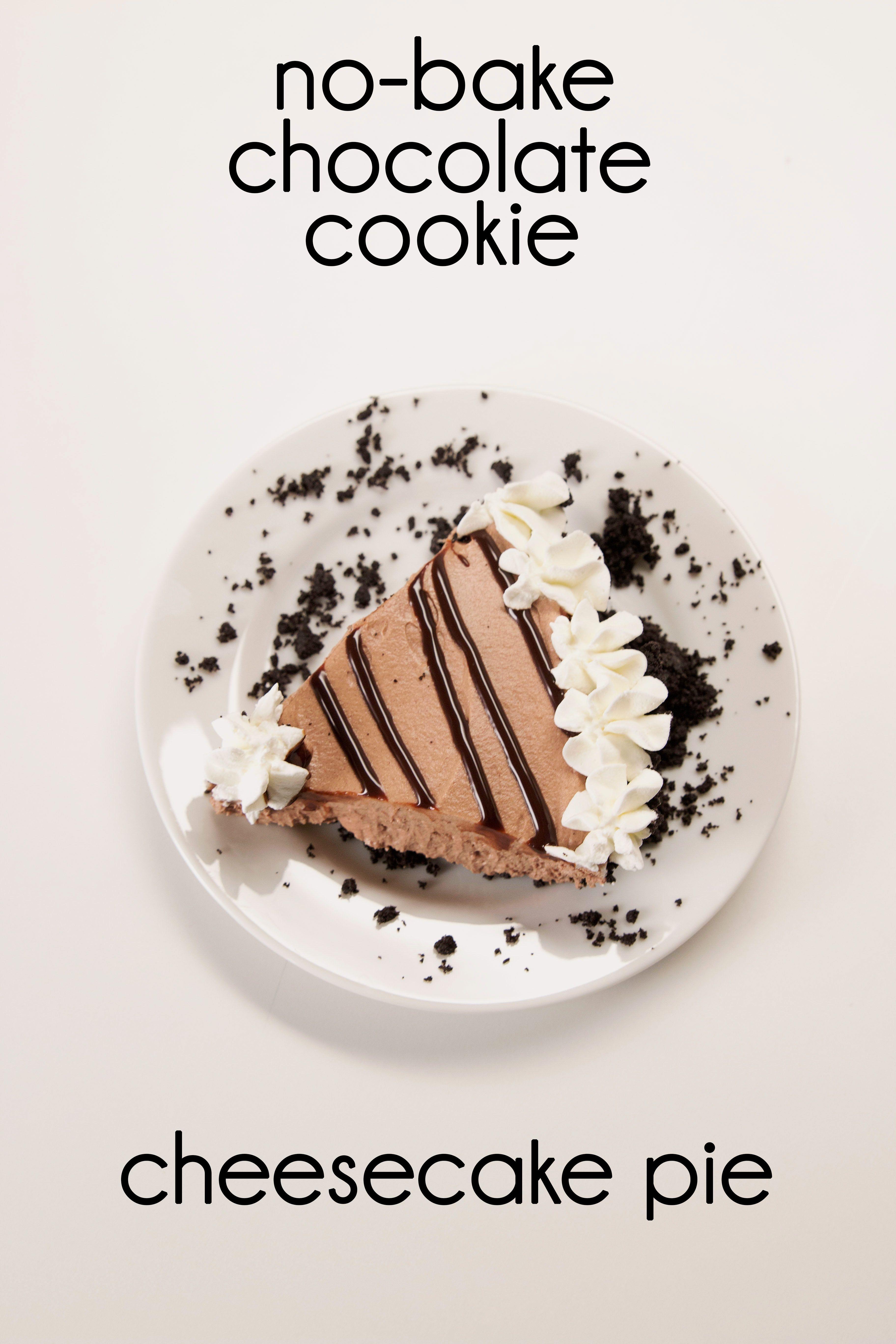 No-Bake Chocolate Cookie Cheesecake Pie | Desserts ...