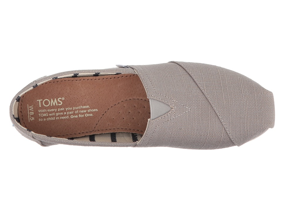 3f0468b5e78 TOMS Venice Collection Alpargata Women s Slip on Shoes Morning Dove Heritage  Canvas