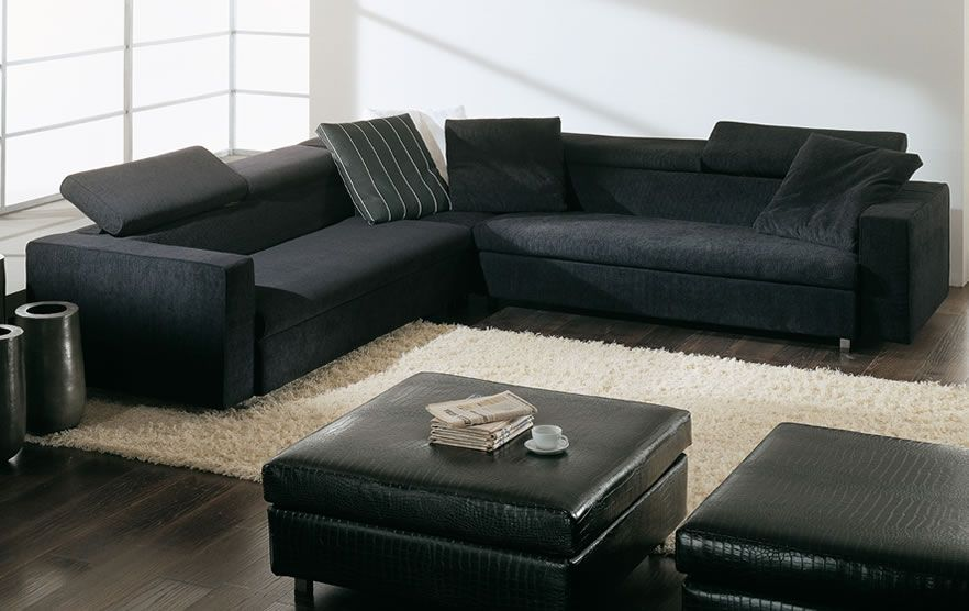 Superb White Walls Black Couch Surround Home Decor Room Uwap Interior Chair Design Uwaporg