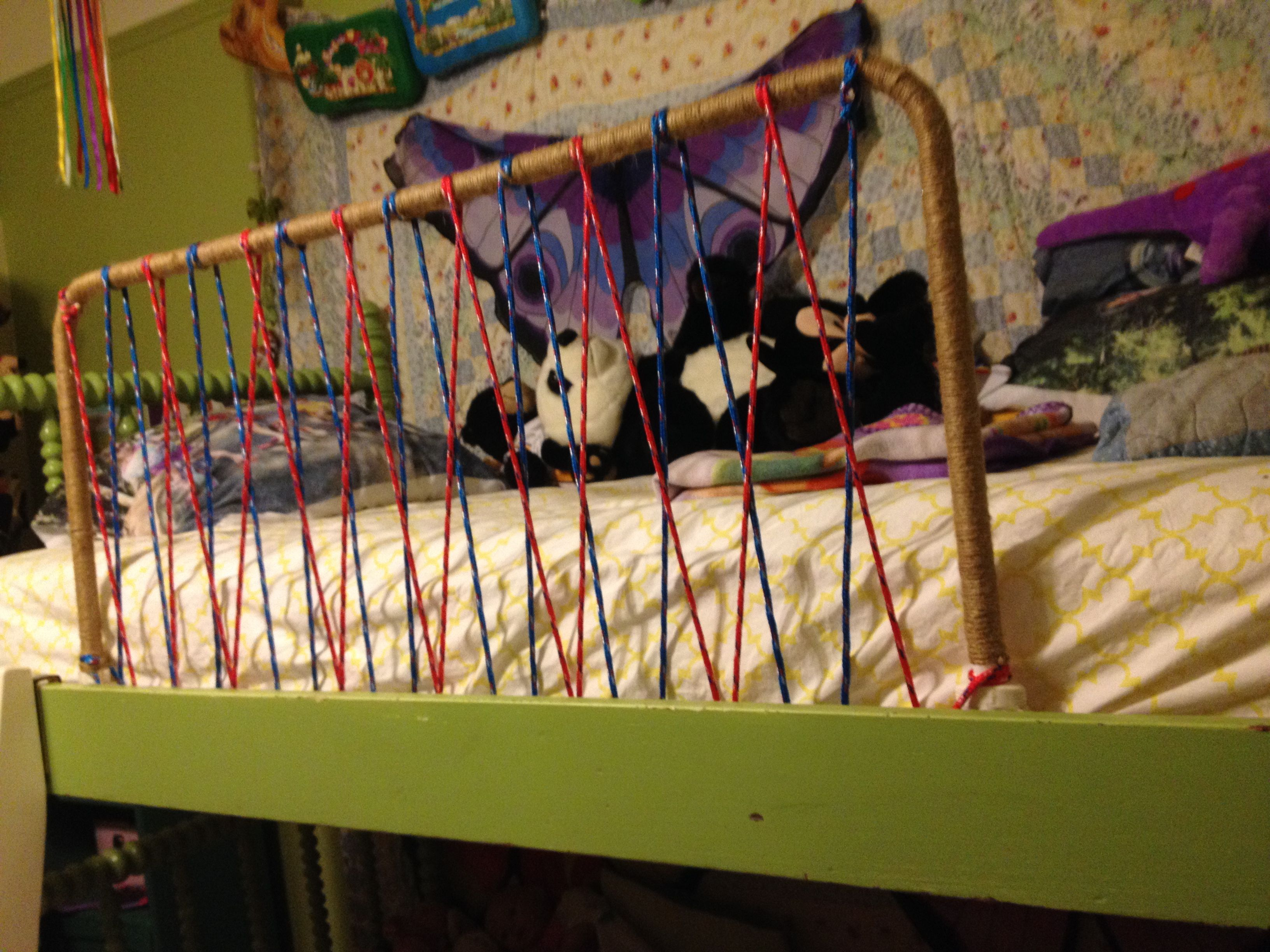 Best Bunk Bed Railing Diy Made From Rope And Old Toddler 400 x 300