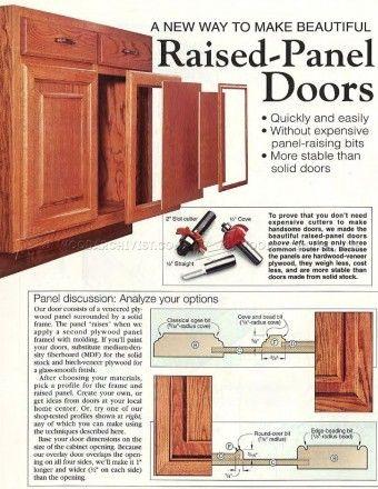 343 Making Raised Panel Doors Cabinet Door Construction