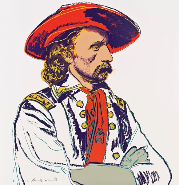 "Andy Warhol - ""General Custer"" from Valley Fine Art's collection www.valleyfineart.com. #Andywarhol #popart #westernart #GeneralCuster"