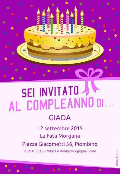 Molto Inviti di compleanno per bambini - Donnaclick   Inviti di TU17