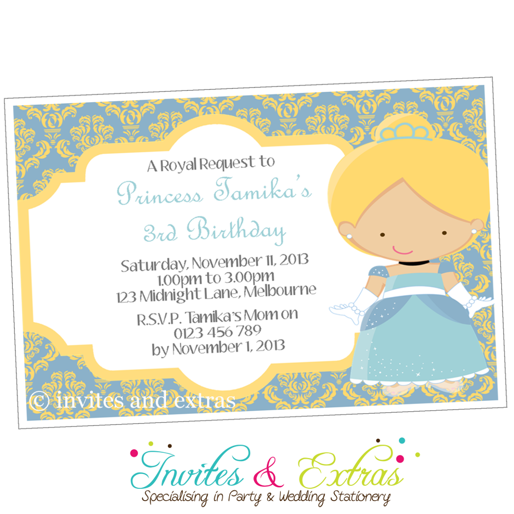 Slipper Princess Party Invitation | twins party ideas | Pinterest ...