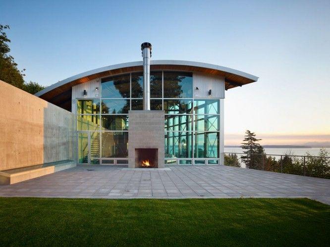 modern metal building houses | Modern Steel Frame Interior ...