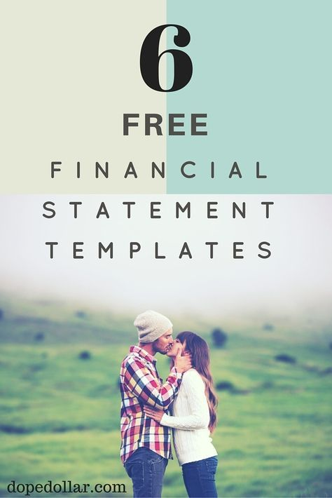 Financial Statement Forms Templates Stunning 5 Business & Personal Financial Statement Templates  Statement .