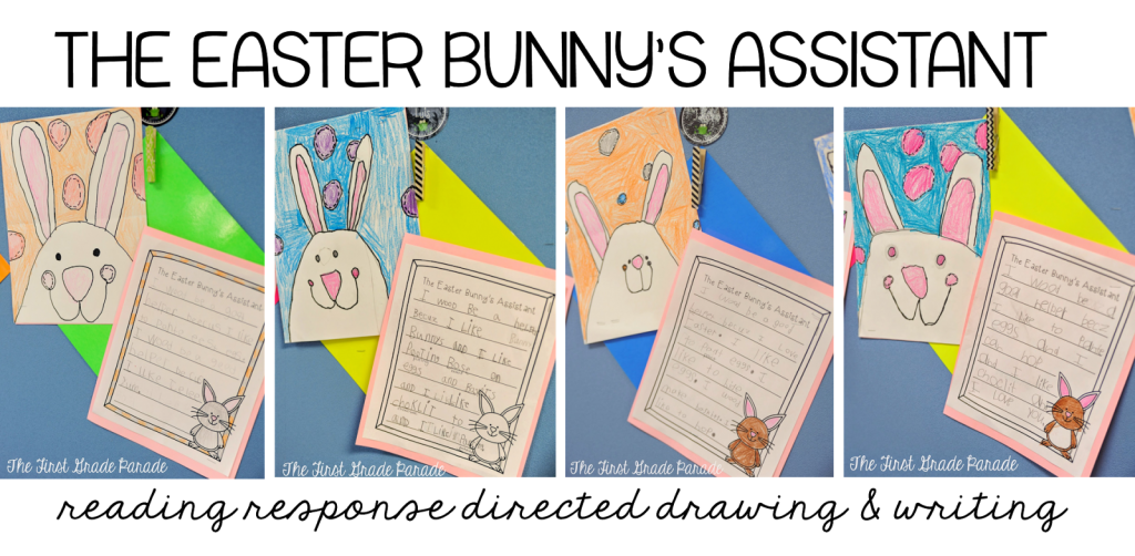 The Easter Bunny's Assistant guided drawing and writing activity