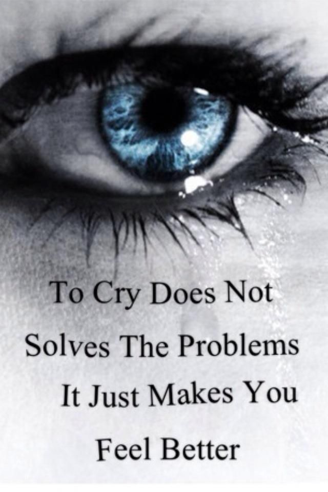 why does crying make you feel better