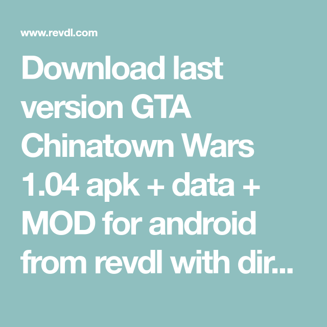 Gta 5 apk + data free download for android revdl