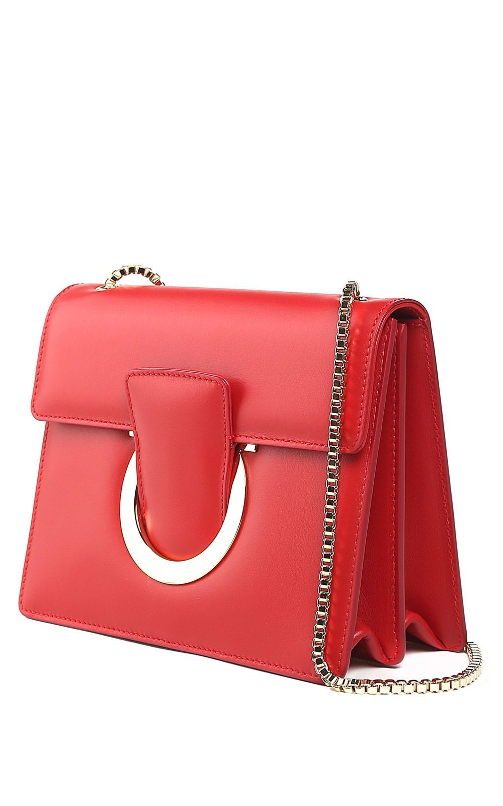 b1ae6bdc57ac SALVATORE FERRAGAMO THALIA LEATHER SHOULDER BAG.  salvatoreferragamo  bags  shoulder  bags  leather  lining