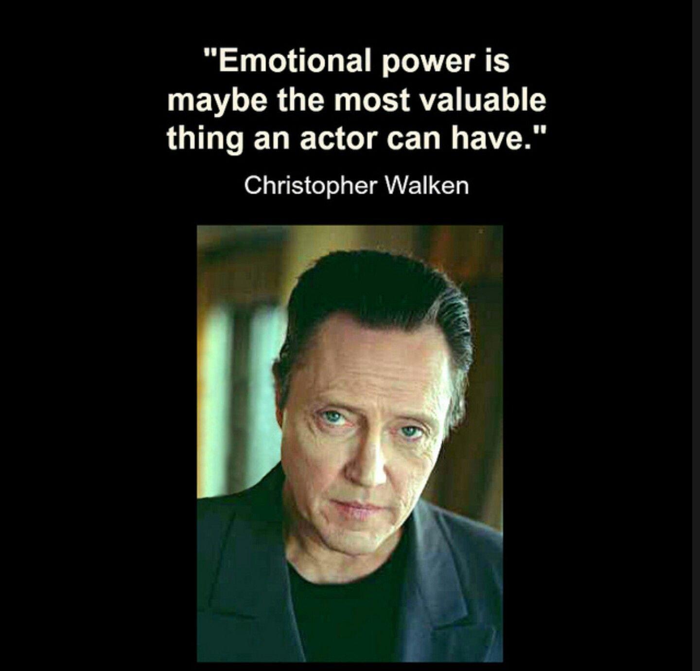 Acting Quotes Christopher Walken #christopherwalken #christopherwalkenquotes
