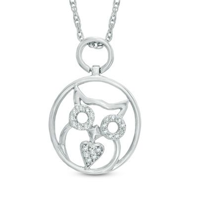 Zales Circle Pendant Necklace